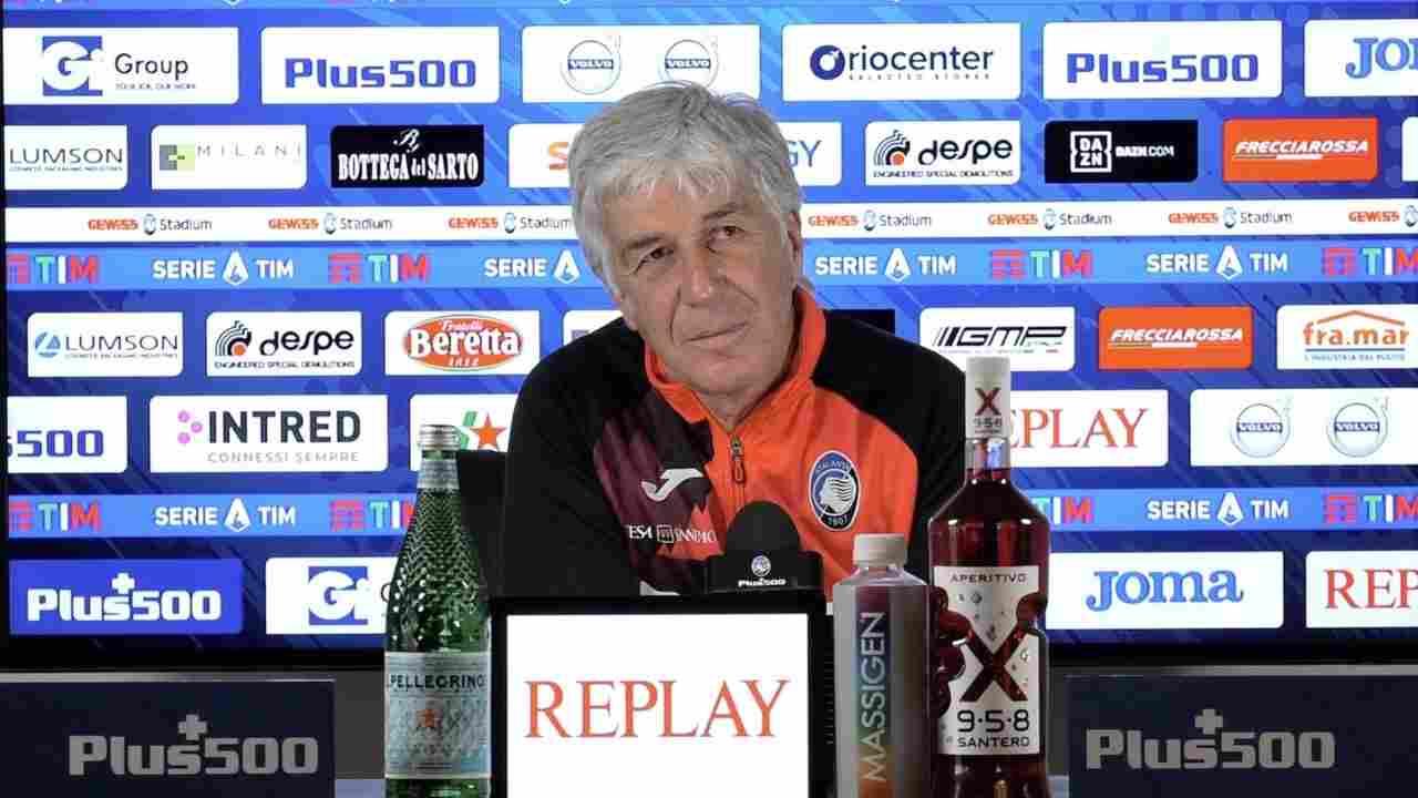 Atalanta, il tecnico Gian Piero Gasperini in conferenza stampa (foto © Atalanta)