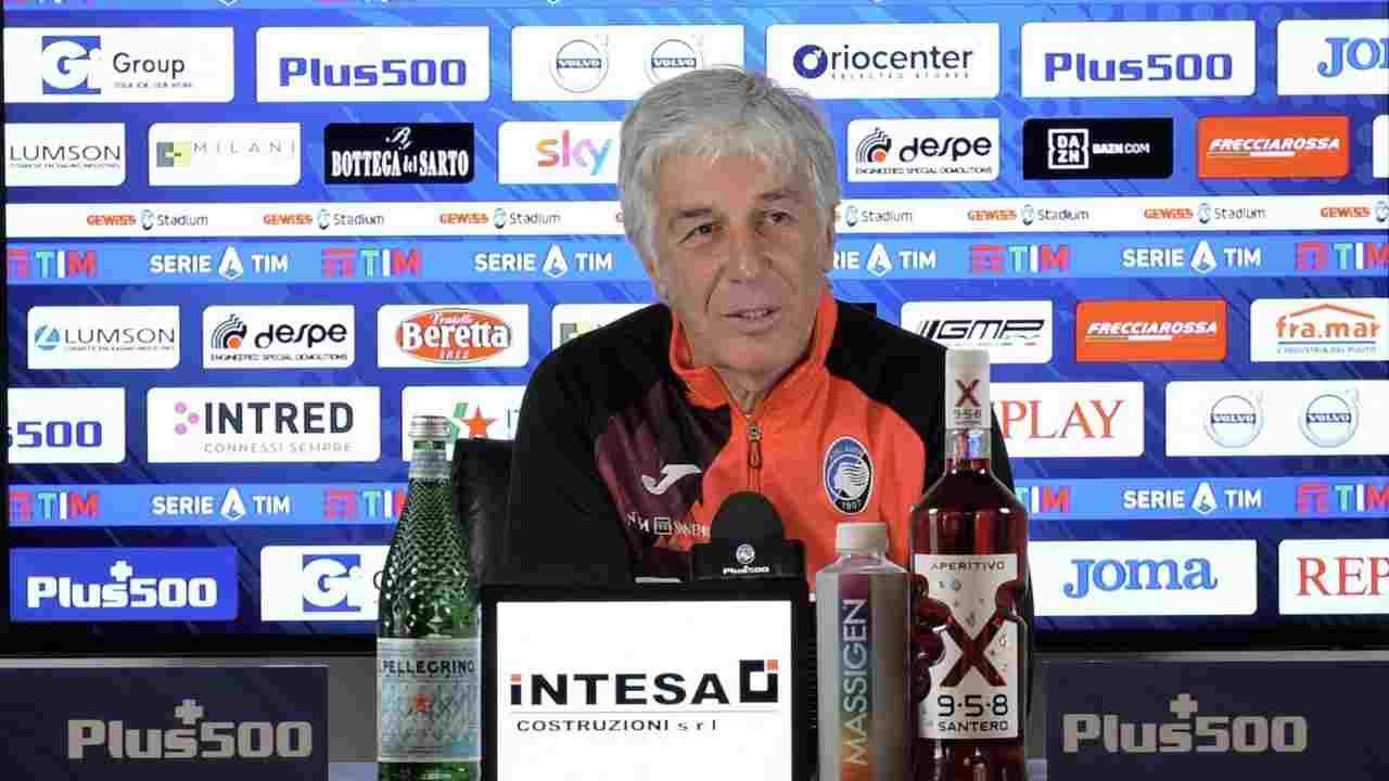 Atalanta, l'allenatore Gian Piero Gasperini in conferenza stampa, 22 dicembre 2020 (foto © Atalanta)