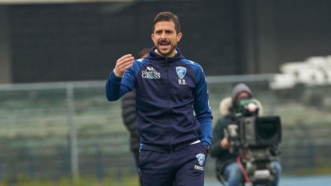 Empoli, l'allenatore Alessio Dionisi a bordocampo (foto © Empoli FC)