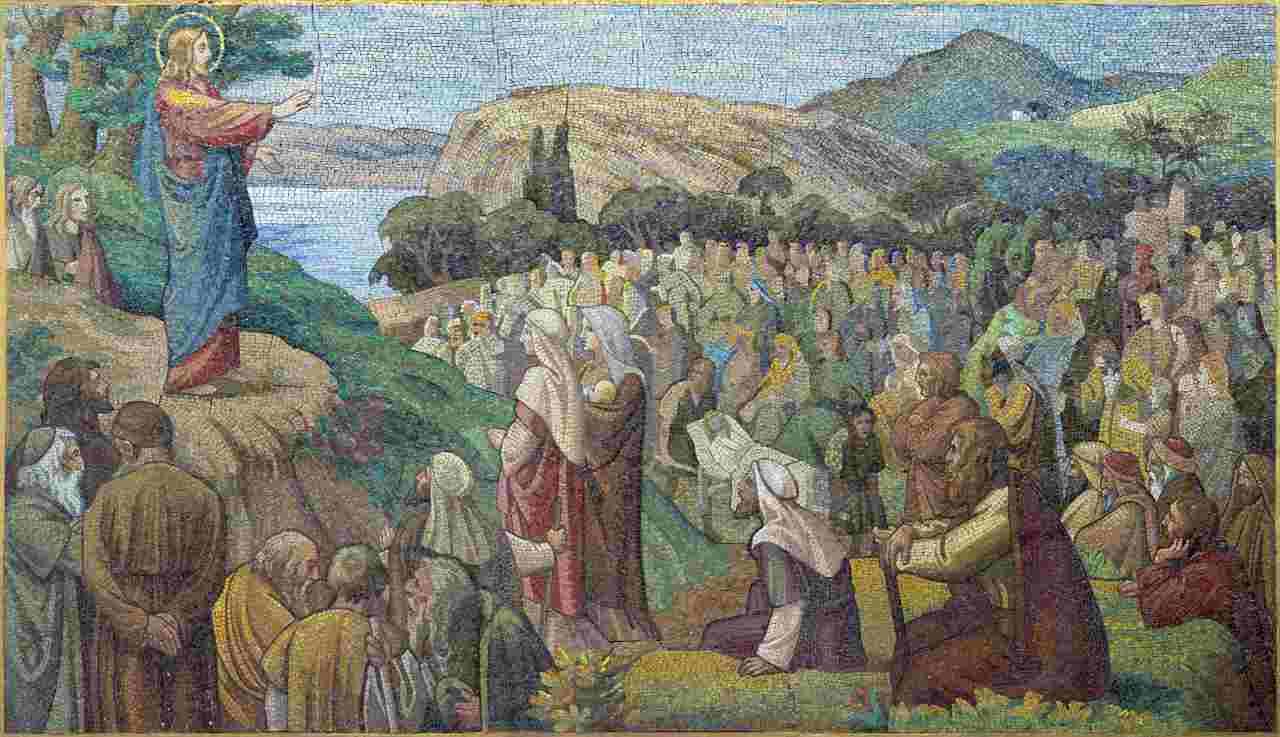 Gesù insegna ai poveri