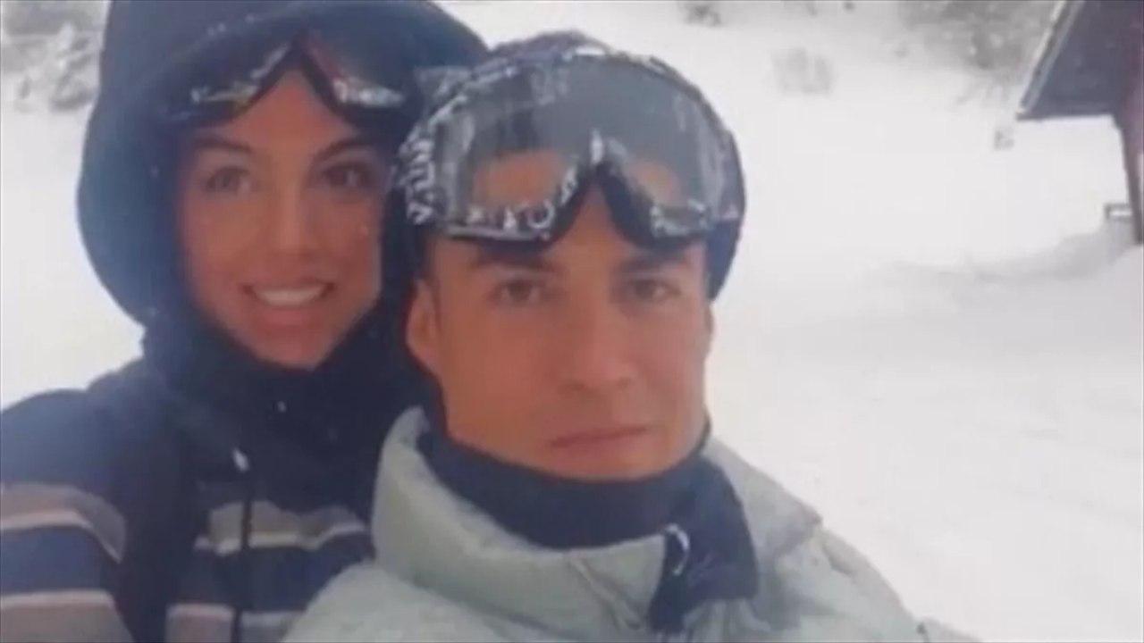 Ronaldo e fidanzata a Coumayeur (Instagram Crisgina Brasil)