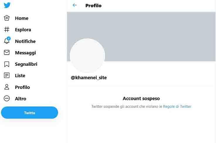 L'account sospeso da Twitter – Meteoweek