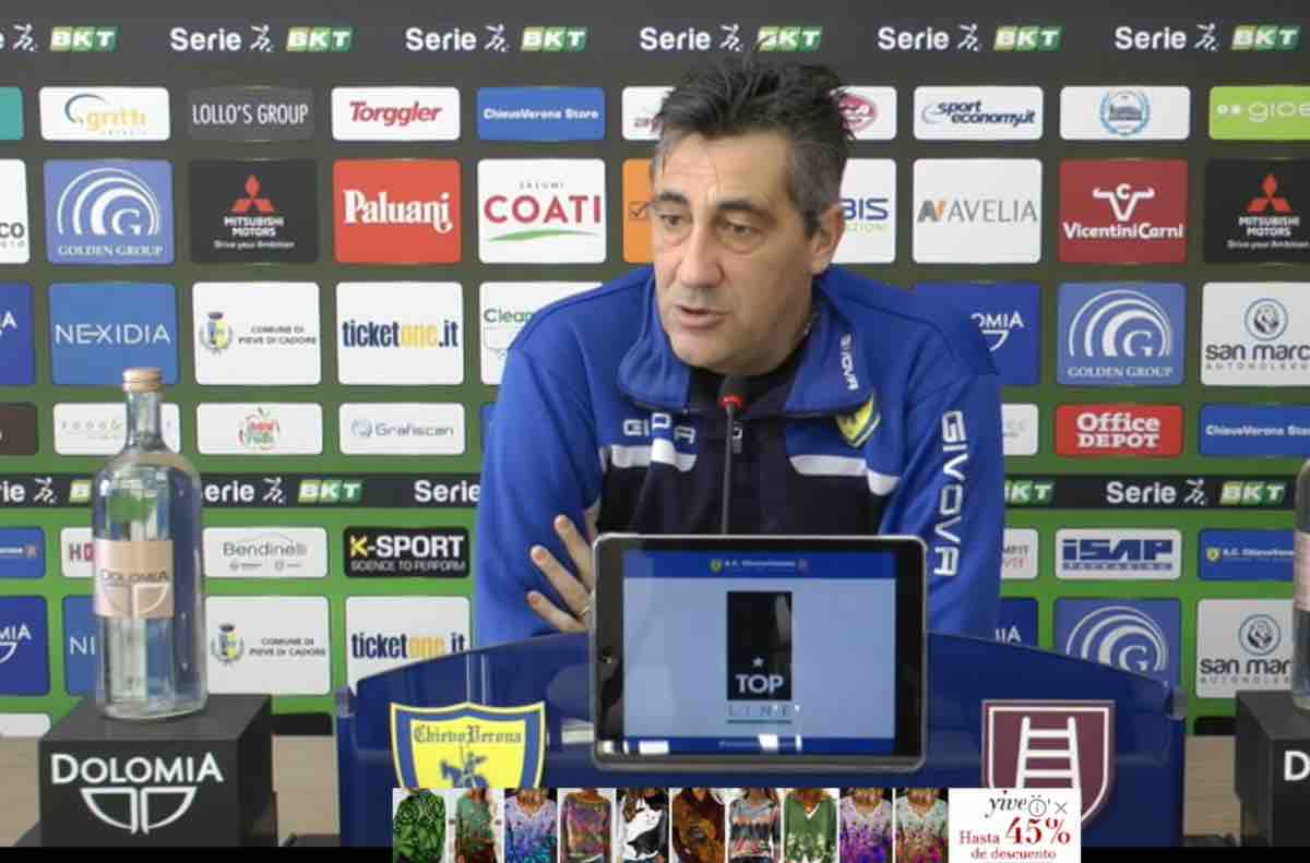 Alfredo Aglietti presenza la prossima sfida del Chievo