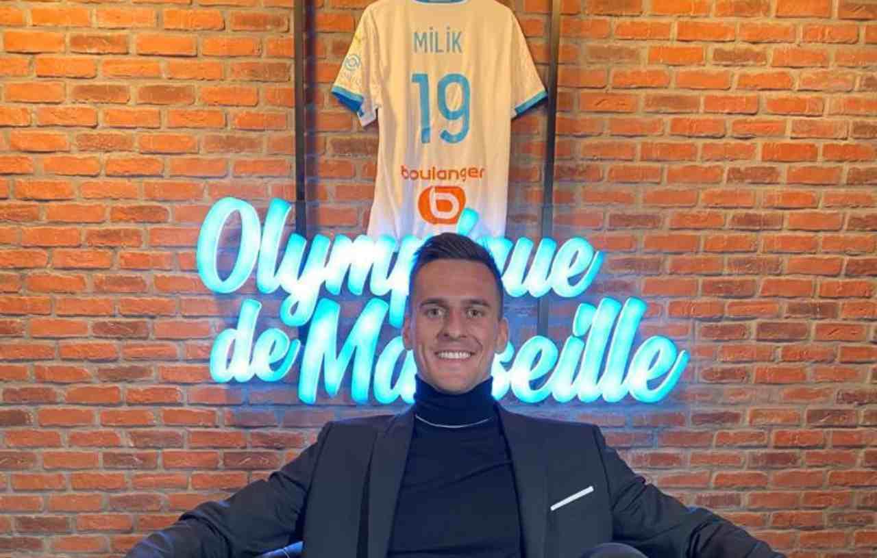 Arkadiusz Milik, attaccante del Marsiglia. Twitter ufficiale Milik
