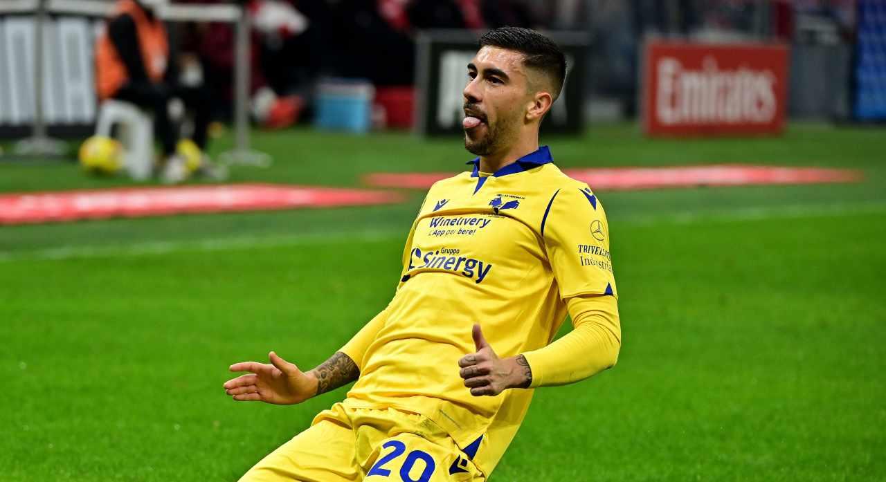 Mattia Zaccagni, centrocampista dell'Hellas Verona. Getty Images