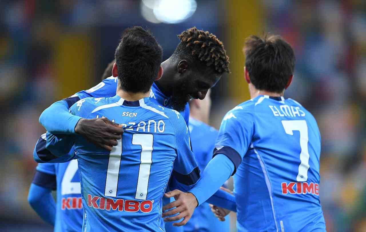 L'esultanza del Napoli contro l'Udinese. Getty Images