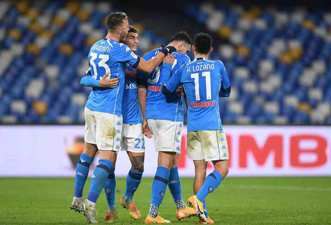 L'esultanza del Napoli contro l'Empoli. Getty Images