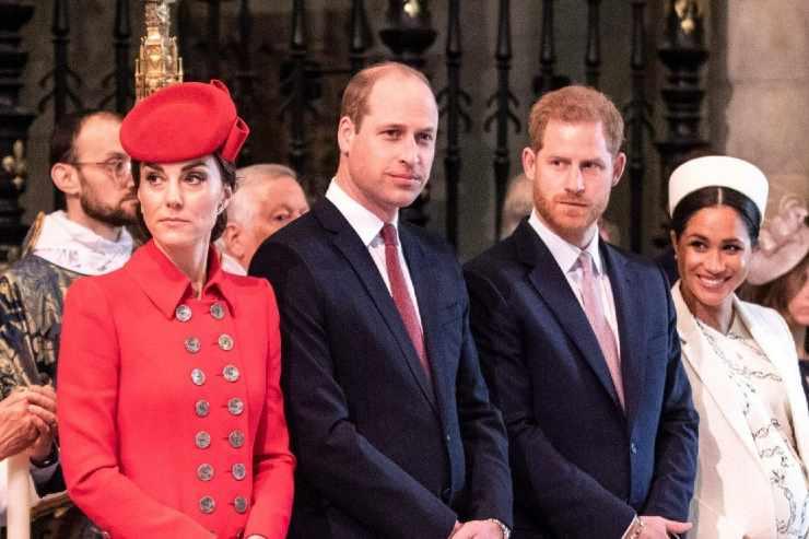 Kate, William, Harry e Meghan - meteoweek