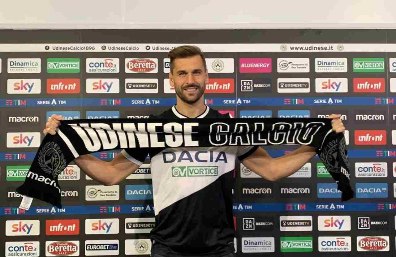 Fernando Llorente, nuovo attaccante dell'Udinese. Twitter Udinese