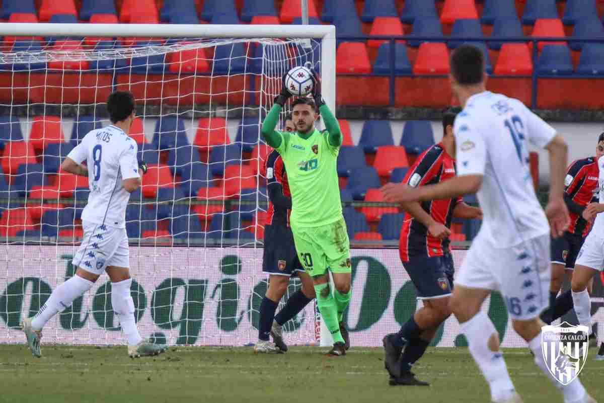 Wladimiro Falcone in campo contro l'Empoli
