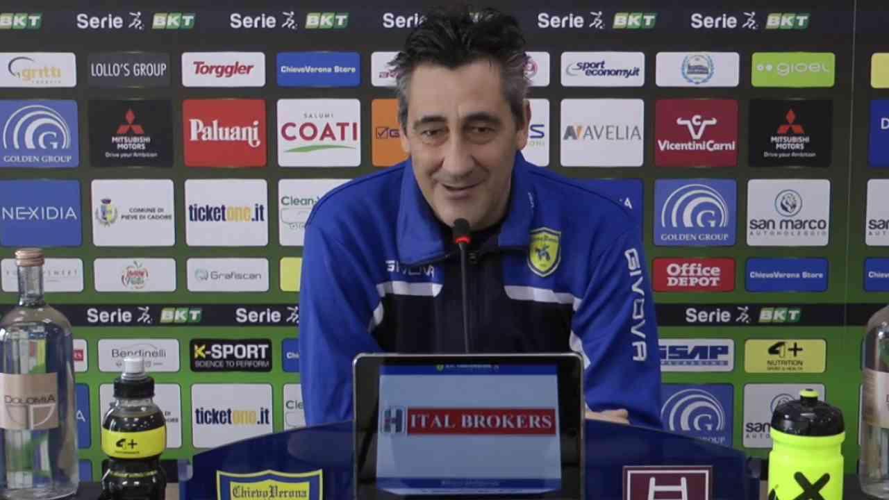 Chievo Verona, l'allenatore Alfredo Aglietti in conferenza stampa, 30 gennaio 2021 (foto © Chievo Verona)