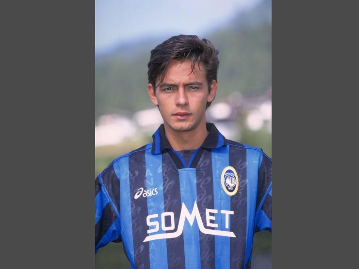 Atlanta, l'ex attaccante Filippo Inzaghi, luglio 1996 (foto © Allsport UK)