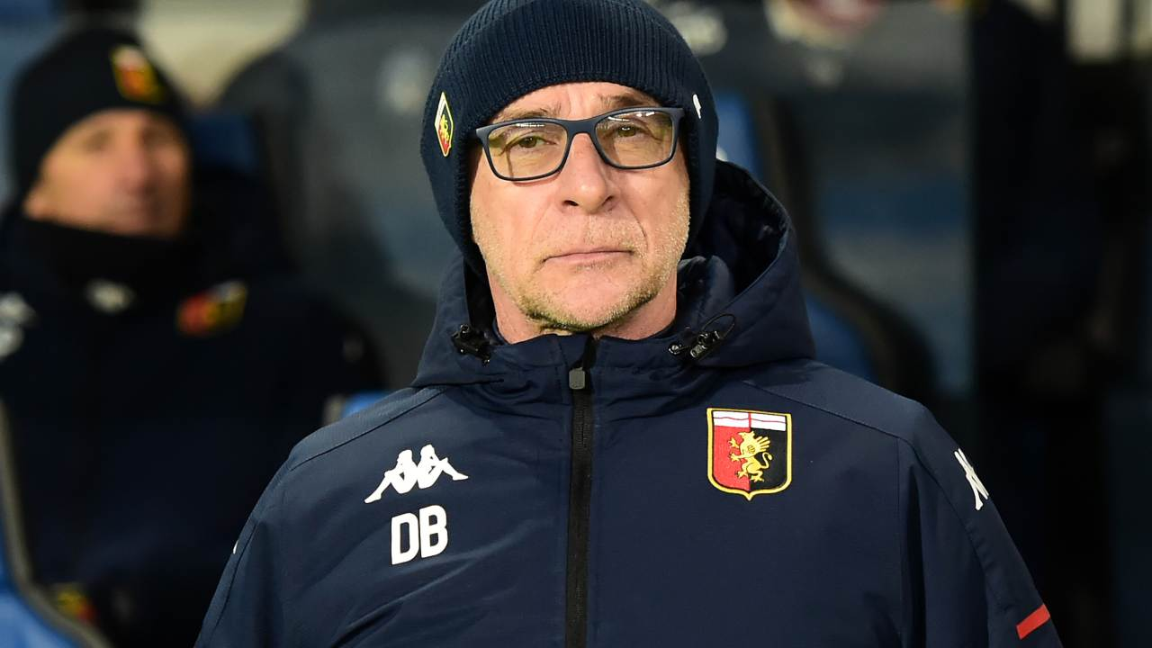 Genoa, l'allenatore Davide Ballardini a bordocampo durante la partita con l'Atalanta, 17 gennaio 2021 (foto di Pier Marco Tacca/Getty Images)