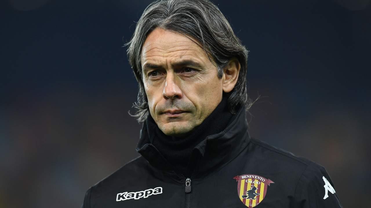 Benevento, l'allenatore Pippo Inzaghi a bordocampo nella partita con l'Udinese, 23 dicembre 2020 (foto di Alessandro Sabattini/Getty Images)