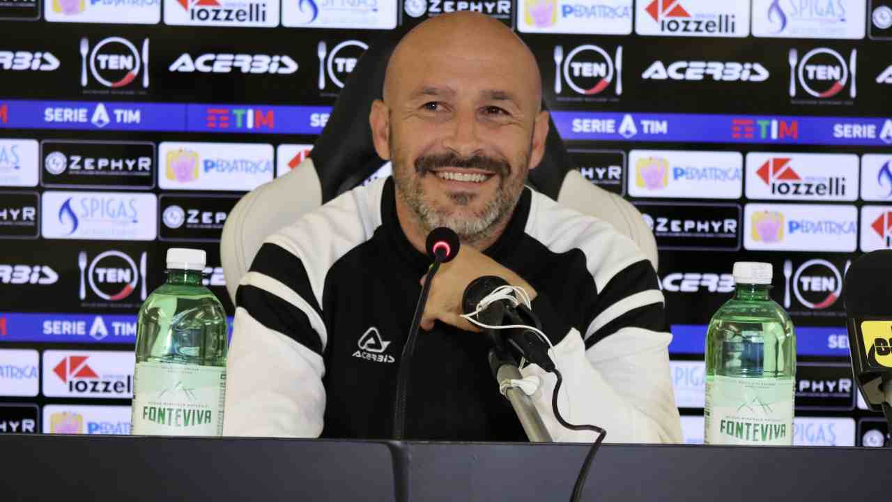 Spezia, l'allenatore Vincenzo Italiano in conferenza stampa, 10 gennaio 2021