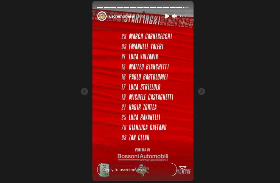 Cremonese, ecco la formazione titolare in campo con il Cittadella il 31 gennaio 2021