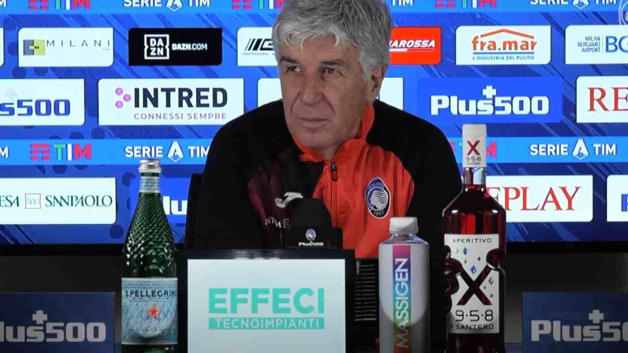 Atalanta, il tecnico Gian Piero Gasperini in conferenza stampa, 22 gennaio 2021 (foto © Atalanta Bergamasca Calcio)