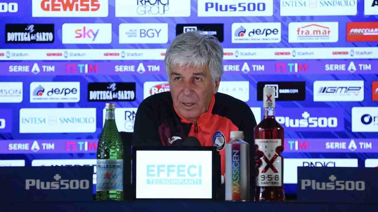Atalanta, l'allenatore Gian Piero Gasperini in conferenza stampa a Zingonia, 5 gennaio 2021 (foto © Atalanta Bergamasca Calcio)