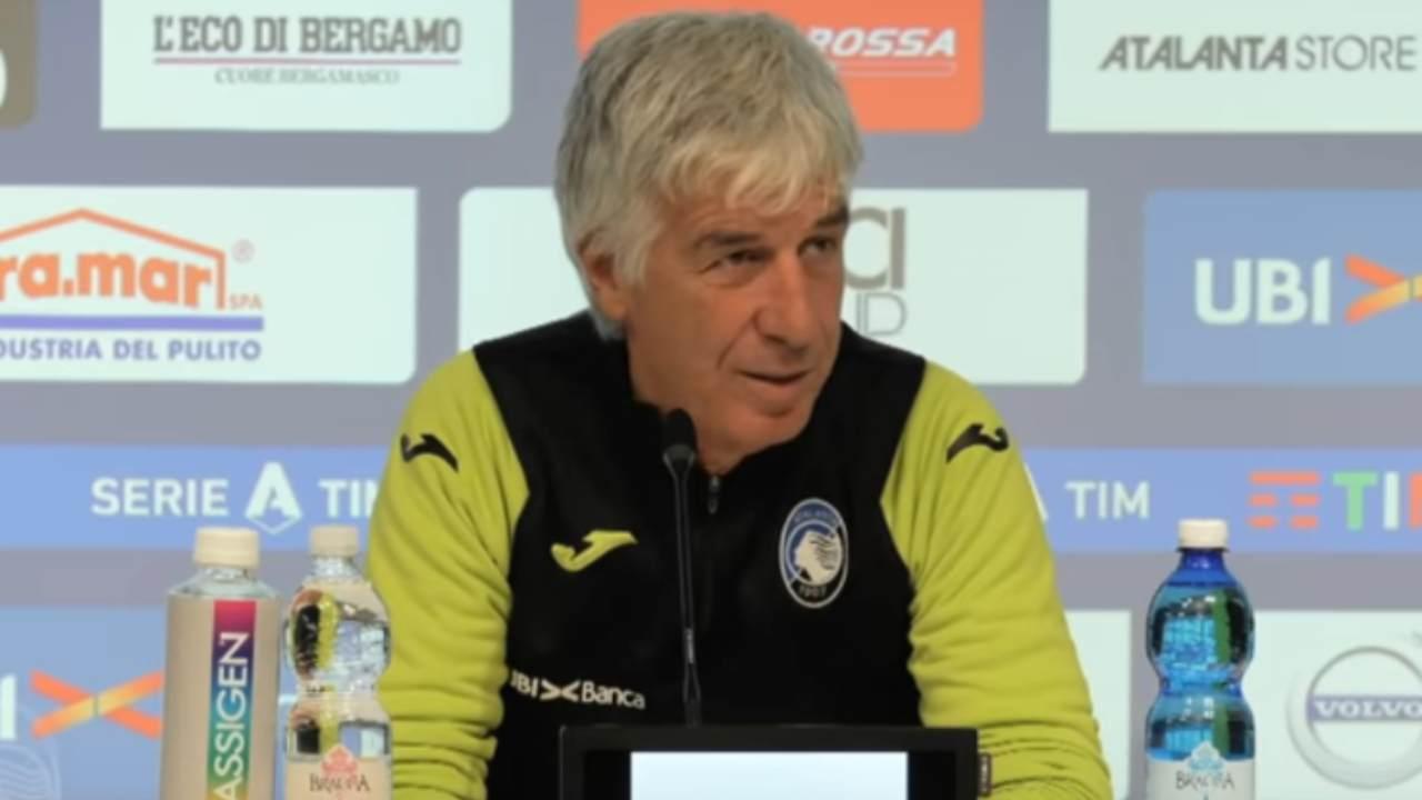 Atalanta, il tecnico Gian Piero Gasperini in conferenza stampa (foto © Atalanta Bergamasca Calcio)