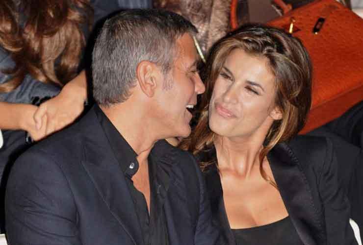 Elisabetta Canalis e George Clooney- Foto web- Meteoweek