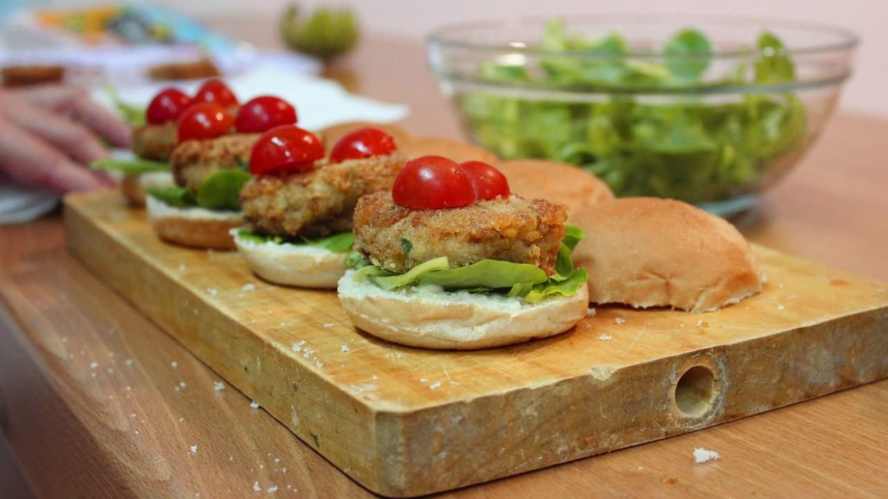 hamburger di ceci ricetta light vegetariana