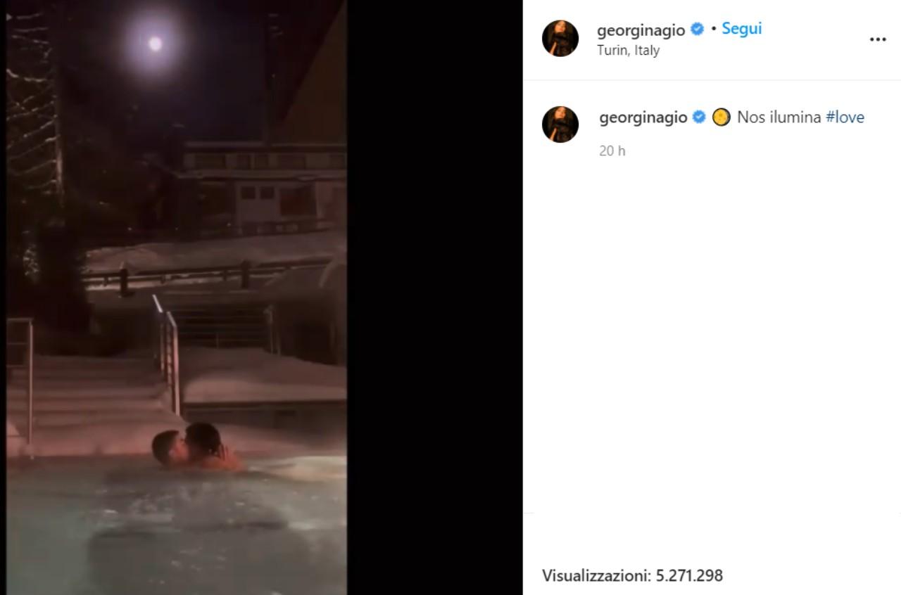 Georgina Rodriguez e Ronaldo (georginagio Instagram)