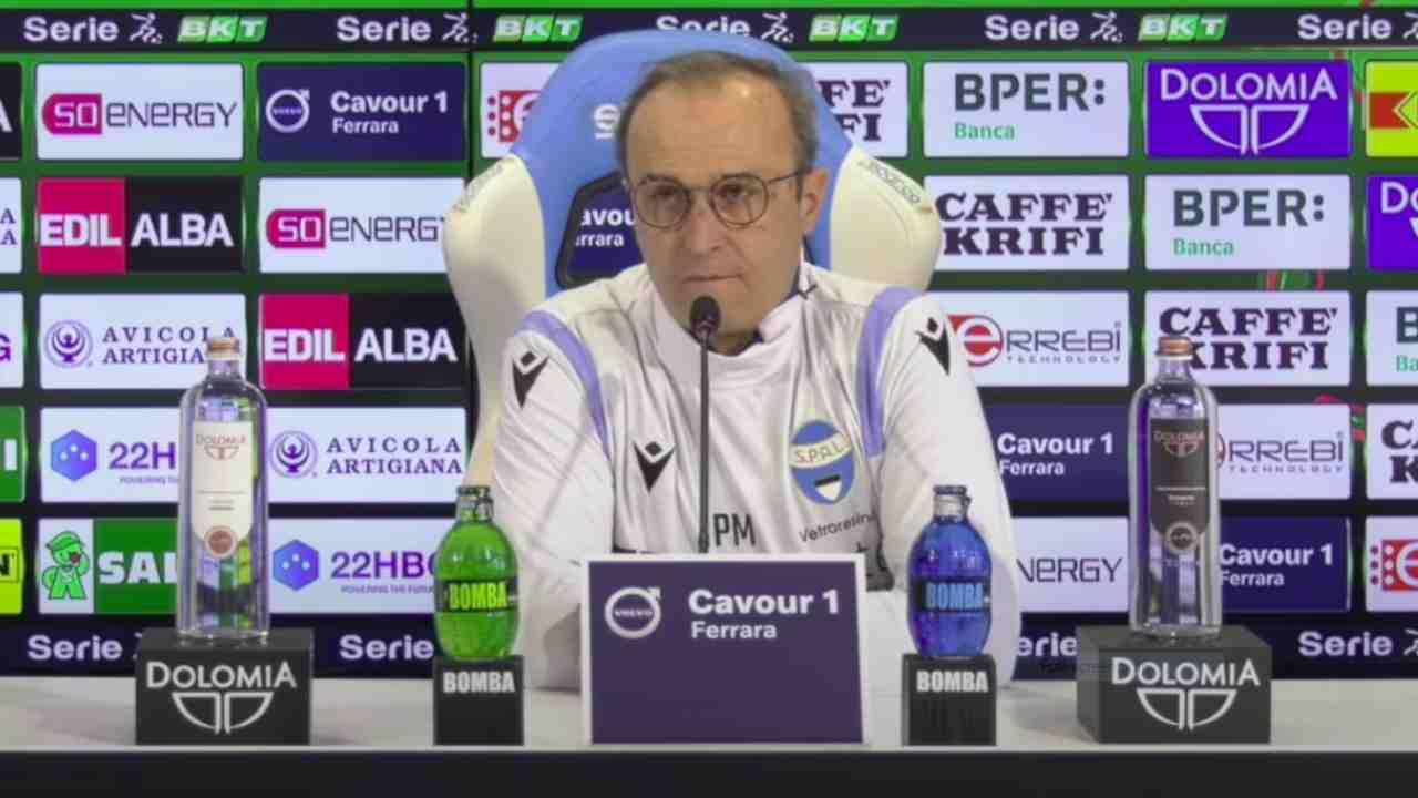 SPAL, il tecnico Pasquale Marino in conferenza stampa, 23 gennaio 2021 (foto © SPAL)