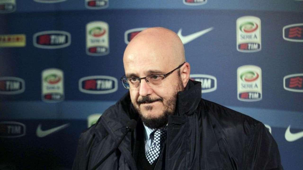 Udinese, il responsabile dell'area tecnica dei bianconeri Pierpaolo Marino risponde ai giornalisti (foto © Udinese Calcio)