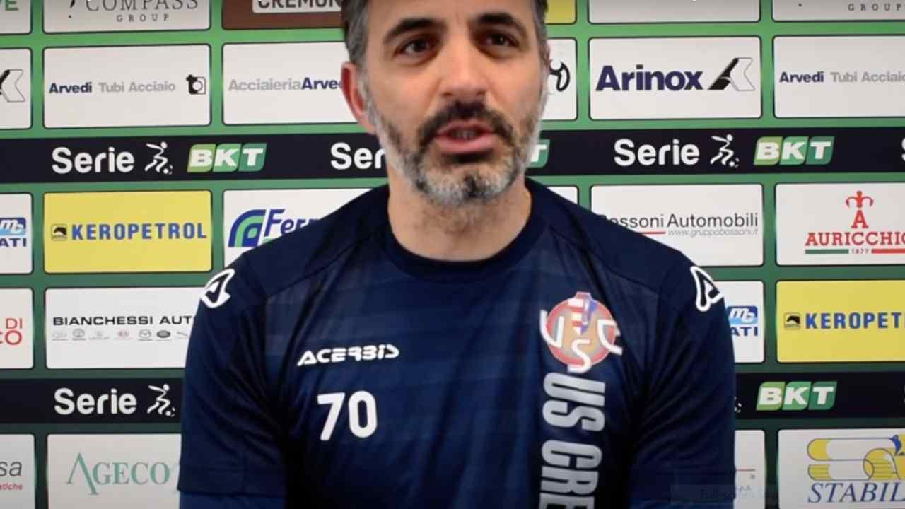 Cremonese, l'allenatore Fabio Pecchia in conferenza stampa, 23 gennaio 2021 (foto © US Cremonese)