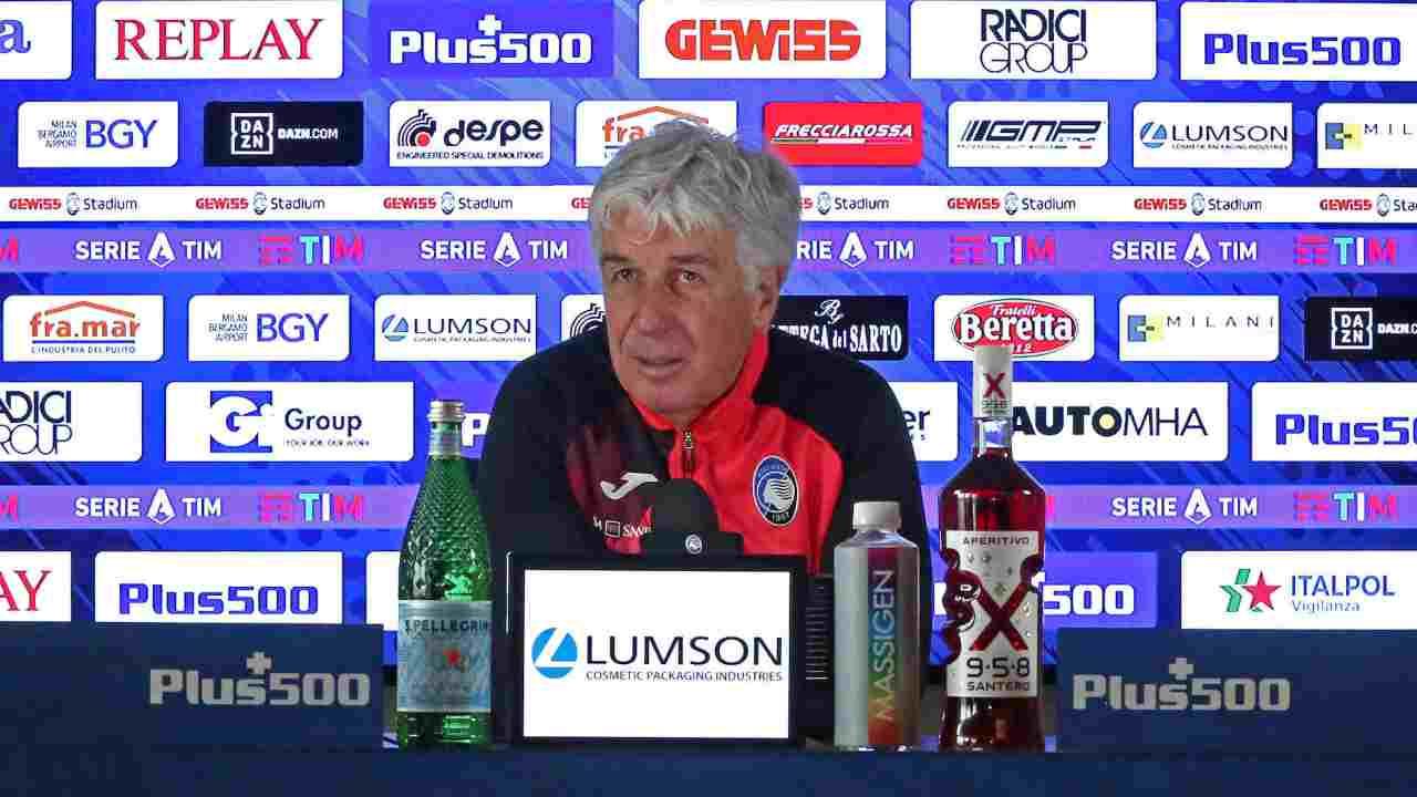 Atalanta, il tecnico Gian Piero Gasperini in conferenza stampa