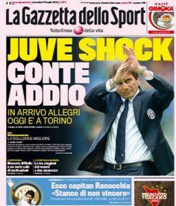 Era il 15 luglio 2014: rottura tra Conte e la Juve