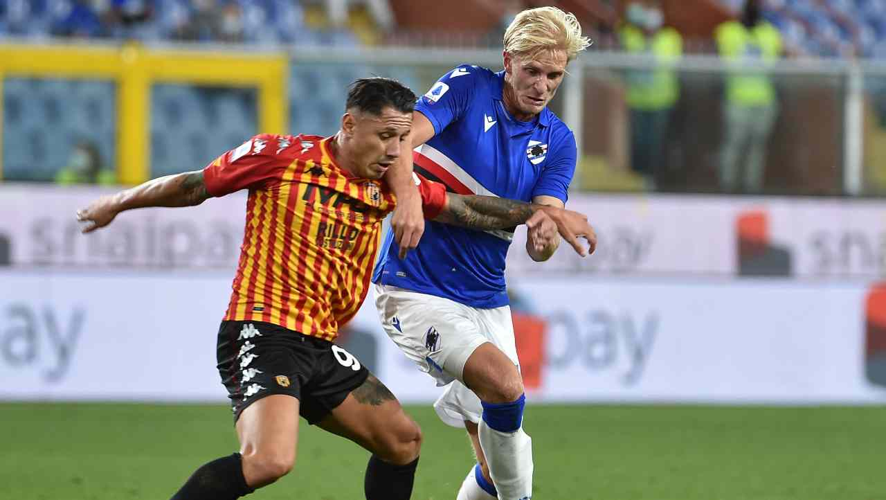 Benevento Sampdoria diretta streaming