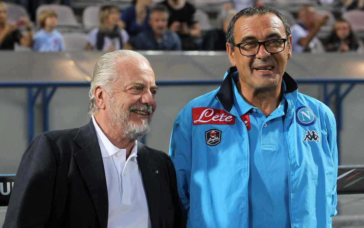 Aurelio De Laurentiis e Maurizio Sarri. Getty Images