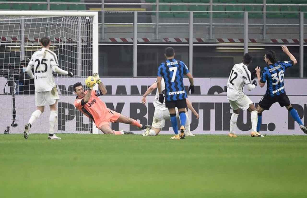 Parata decisiva di Buffon in Inter-Juve (Buffon Instagram)