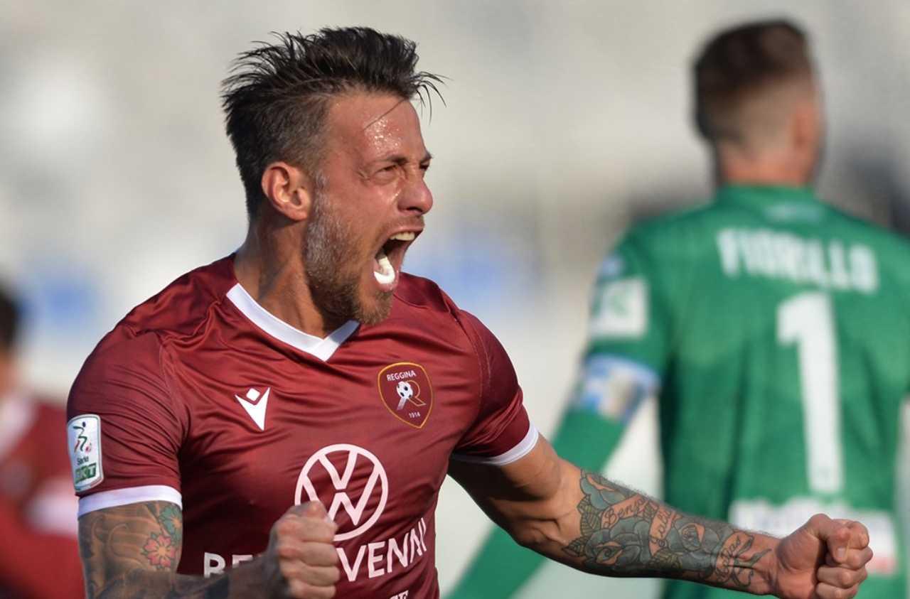 German Denis della Reggina (Lega Serie B Facebook)