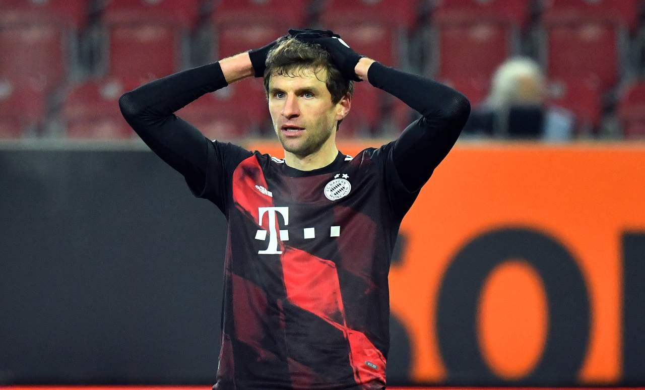 Thomas Muller del Bayern (Photo by Philipp Guelland - Pool/Getty Images)