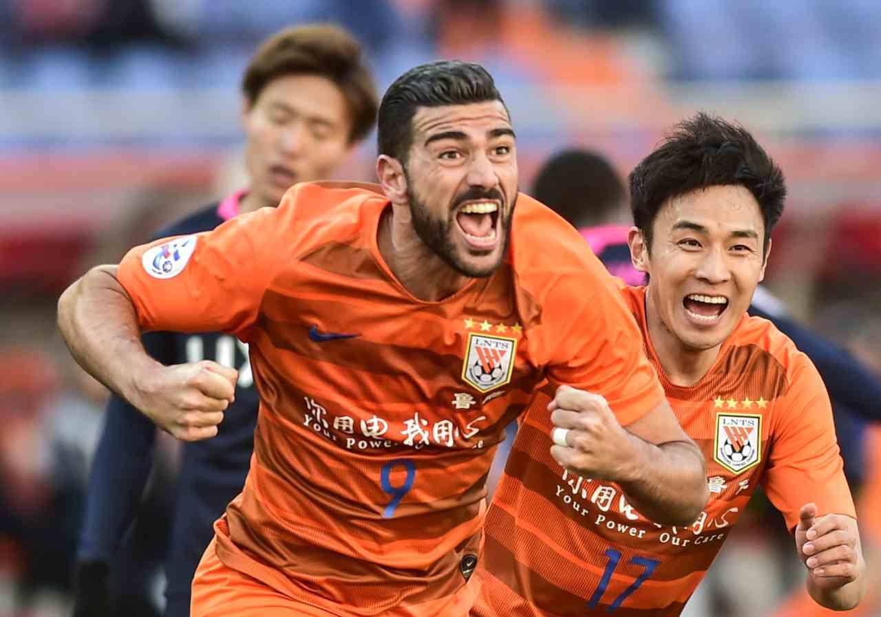 Shandong in rosso, niente Champions: è l'ex squadra di Pellè (Photo credit should read STR/AFP via Getty Images)