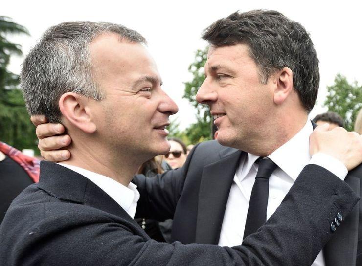 Il senatore Eugenio Comincini con Matteo Renzi