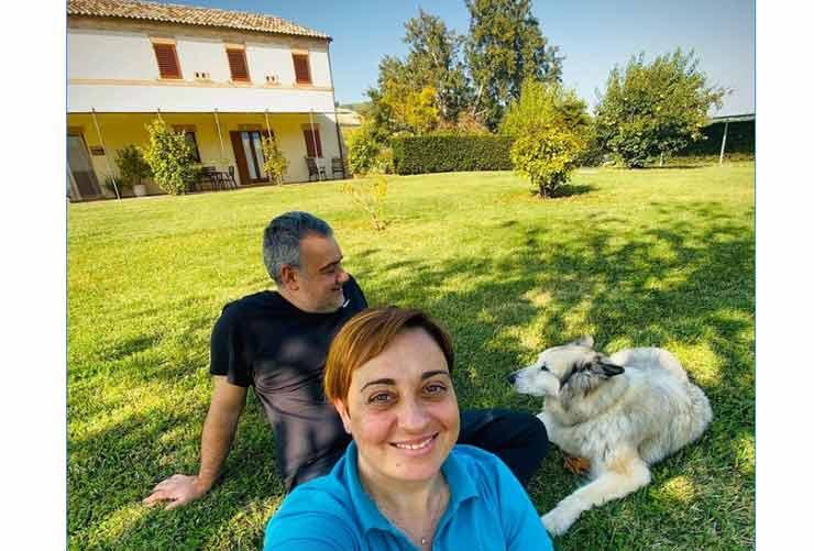 Benedetta Rossi e il marito