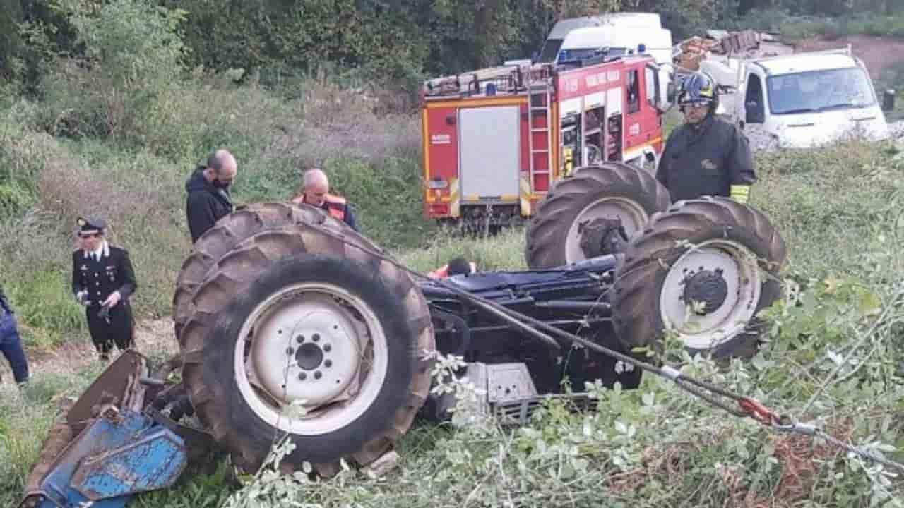 Teano - muore schiacciato dal trattore - meteoweek