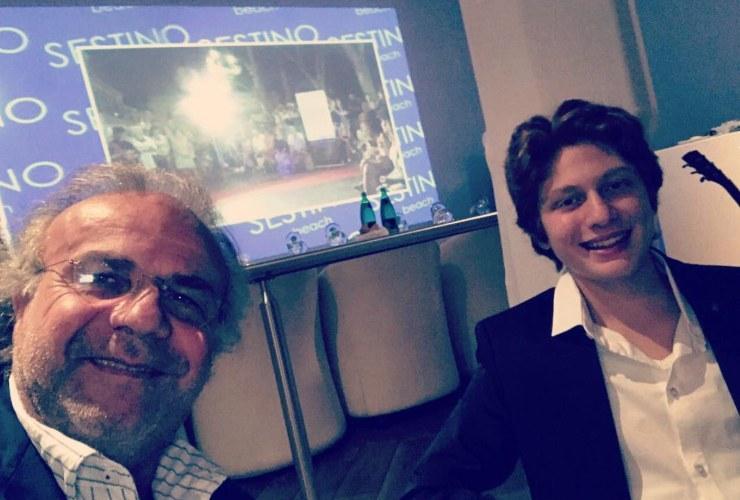 Jerry Calà e il figlio Johnny